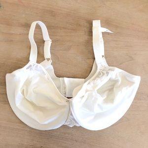 Lilyette Bra With Lace Trim White Size 36DD